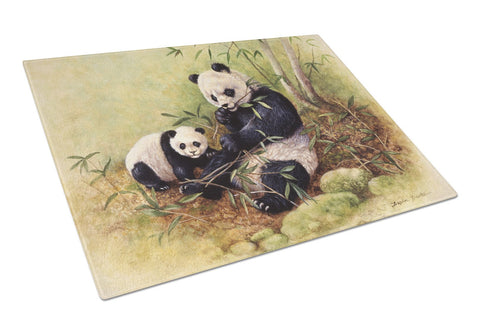 Buy this Panda Bears by Daphne Baxter Glass Cutting Board Large BDBA0111LCB