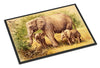 Elephants by Daphne Baxter Indoor or Outdoor Mat 24x36 BDBA0112JMAT - the-store.com