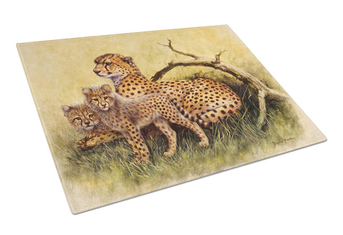 Buy this Cheetahs by Daphne Baxter Glass Cutting Board Large BDBA0113LCB