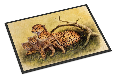 Buy this Cheetahs by Daphne Baxter Indoor or Outdoor Mat 18x27 BDBA0113MAT