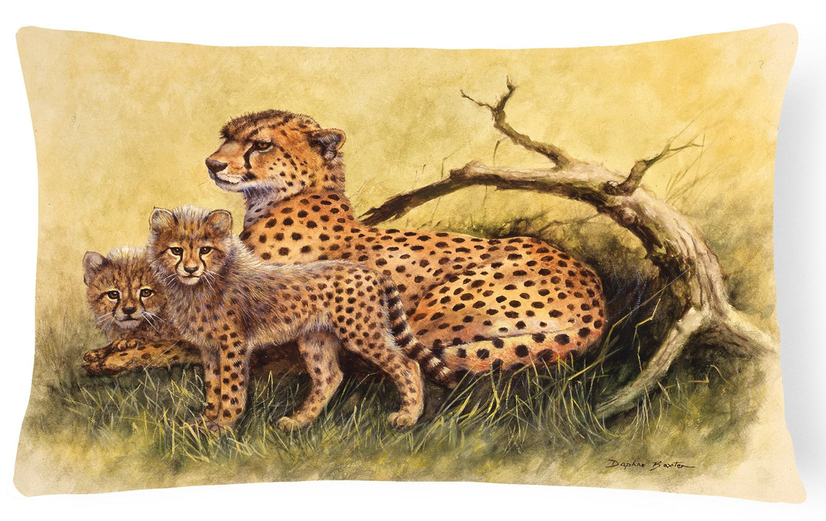 Cheetahs by Daphne Baxter Fabric Decorative Pillow BDBA0113PW1216 - the-store.com