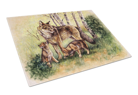 Buy this Wolf Wolves by Daphne Baxter Glass Cutting Board Large BDBA0115LCB