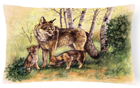 Buy this Wolf Wolves by Daphne Baxter Fabric Decorative Pillow BDBA0115PW1216