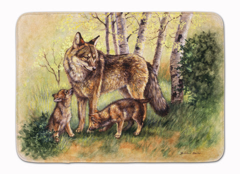 Buy this Wolf Wolves by Daphne Baxter Machine Washable Memory Foam Mat BDBA0115RUG