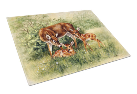 Buy this Deer by Daphne Baxter Glass Cutting Board Large BDBA0116LCB