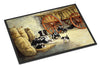 Border Collie Dog Litter Indoor or Outdoor Mat 24x36 BDBA0118JMAT - the-store.com