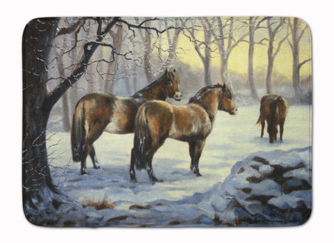 Buy this Horses in Snow by Daphne Baxter Machine Washable Memory Foam Mat BDBA0122RUG