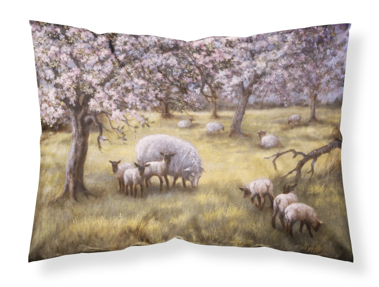 Sheep by Daphne Baxter Fabric Standard Pillowcase BDBA0133PILLOWCASE by Caroline's Treasures