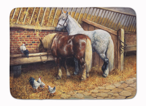 Buy this Horses Eating with the Chickens Machine Washable Memory Foam Mat BDBA0135RUG