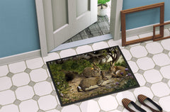 Rabbits and the Rabbit Hole Indoor or Outdoor Mat 24x36 BDBA0136JMAT