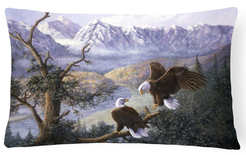 Buy this Eagles by Daphne Baxter Fabric Decorative Pillow BDBA0153PW1216