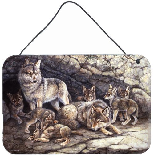 Buy this Wolf Wolves by the Den Wall or Door Hanging Prints