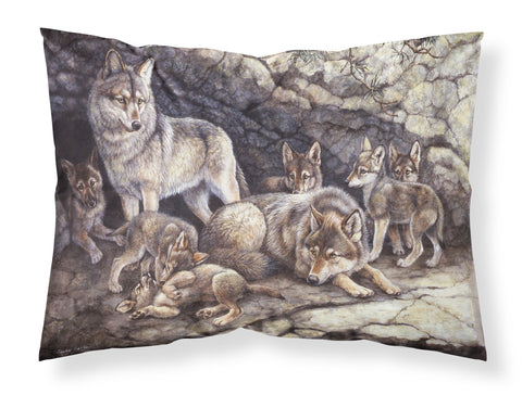 Buy this Wolf Wolves by the Den Fabric Standard Pillowcase BDBA0157PILLOWCASE