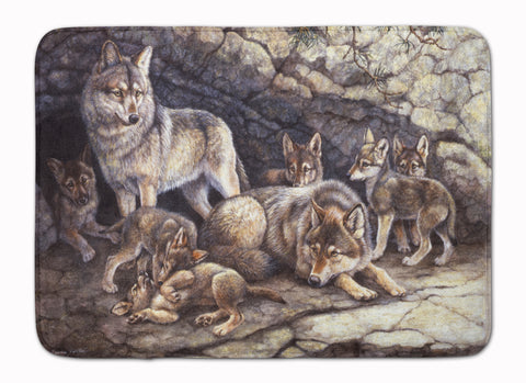 Buy this Wolf Wolves by the Den Machine Washable Memory Foam Mat BDBA0157RUG