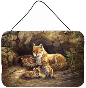 Buy this Fox Family Foxes by the Den Wall or Door Hanging Prints