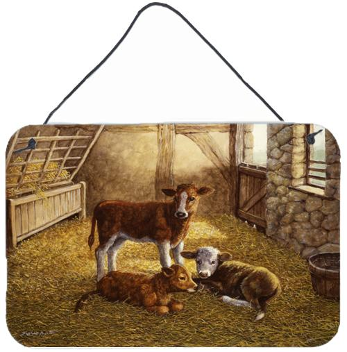 Buy this Cows Calves in the Barn Wall or Door Hanging Prints