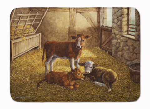 Buy this Cows Calves in the Barn Machine Washable Memory Foam Mat BDBA0179RUG