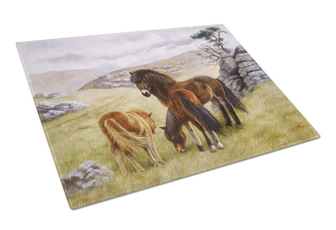 Buy this Horses in the Meadow Glass Cutting Board Large BDBA0189LCB