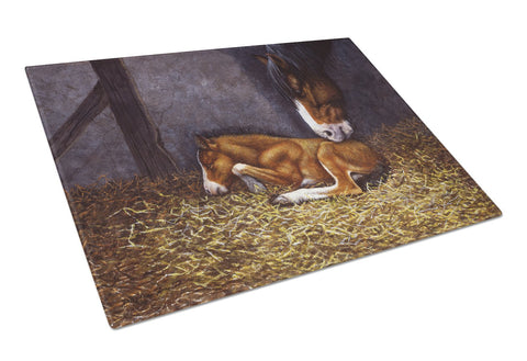 Buy this Horse and Her Foal Glass Cutting Board Large BDBA0207LCB