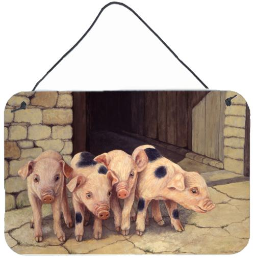 Pigs Piglets by Daphne Baxter Wall or Door Hanging Prints by Caroline's Treasures