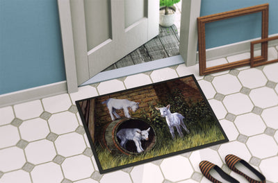 Goats by Daphne Baxter Indoor or Outdoor Mat 24x36 BDBA0232JMAT