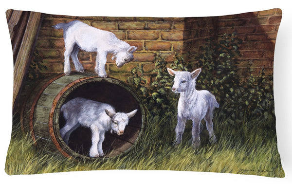 Goats By Daphne Baxter Fabric Decorative Pillow