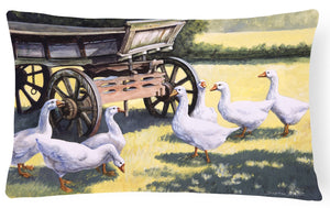 Buy this Geese by Daphne Baxter Fabric Decorative Pillow BDBA0234PW1216