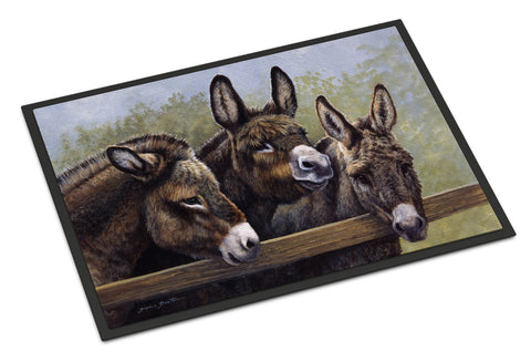 Buy this Donkeys by Daphne Baxter Indoor or Outdoor Mat 24x36 BDBA0235JMAT