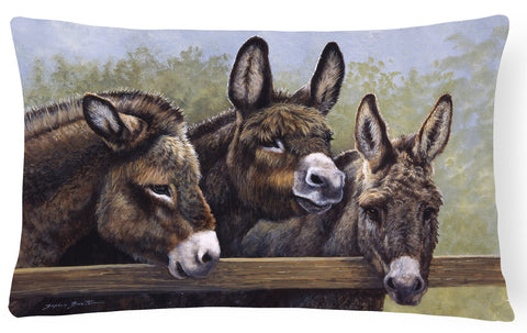 Buy this Donkeys by Daphne Baxter Fabric Decorative Pillow BDBA0235PW1216