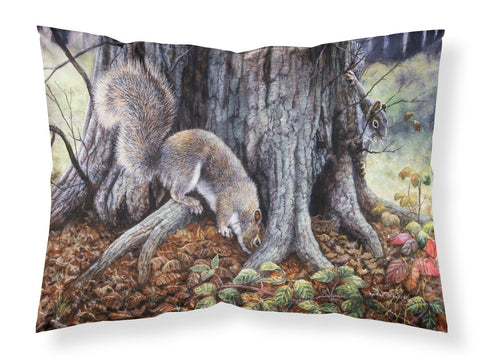 Buy this Grey Squirrels around the Tree Fabric Standard Pillowcase BDBA0260PILLOWCASE