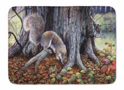Buy this Grey Squirrels around the Tree Machine Washable Memory Foam Mat BDBA0260RUG