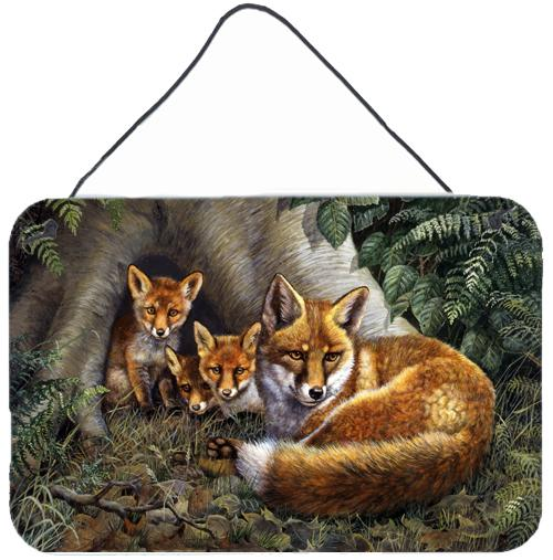 Buy this A Family of Foxes at Home Wall or Door Hanging Prints BDBA0283DS812