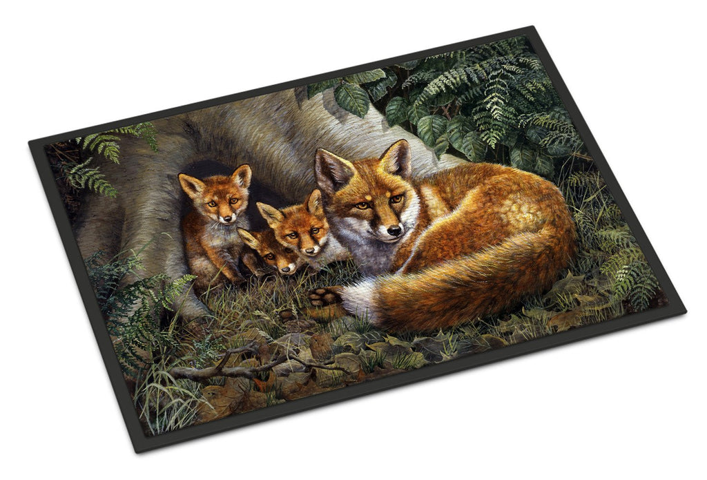 Buy this A Family of Foxes at Home Indoor or Outdoor Mat 24x36 BDBA0283JMAT