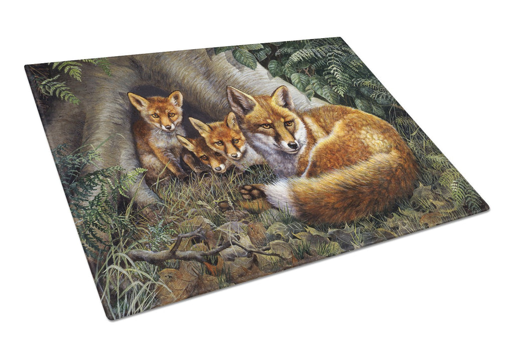 Buy this A Family of Foxes at Home Glass Cutting Board Large BDBA0283LCB