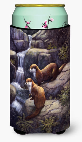 Buy this Otters by the Waterfall by Daphne Baxter Tall Boy Beverage Insulator Hugger BDBA0293TBC