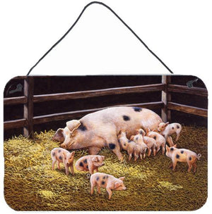 Buy this Pigs Piglets at Dinner Time Wall or Door Hanging Prints