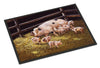 Pigs Piglets at Dinner Time Indoor or Outdoor Mat 24x36 BDBA0296JMAT - the-store.com