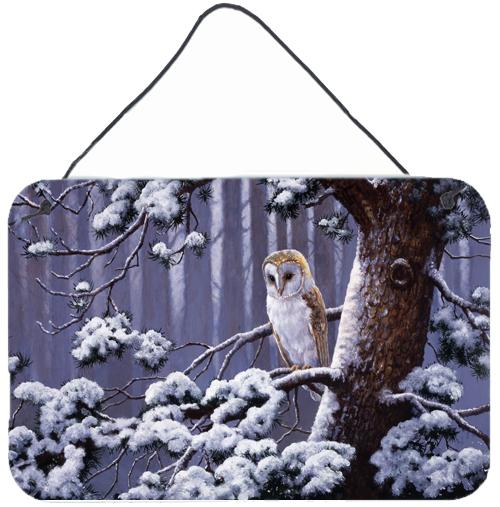 Buy this Owl on a Tree Branch in the Snow Wall or Door Hanging Prints