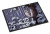 Owl on a Tree Branch in the Snow Indoor or Outdoor Mat 24x36 BDBA0303JMAT - the-store.com