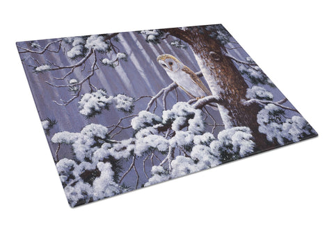 Buy this Owl on a Tree Branch in the Snow Glass Cutting Board Large BDBA0303LCB
