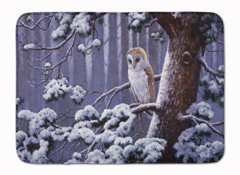 Buy this Owl on a Tree Branch in the Snow Machine Washable Memory Foam Mat BDBA0303RUG