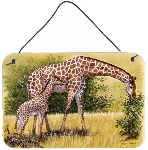 Giraffes by Daphne Baxter Wall or Door Hanging Prints BDBA0309DS812 by Caroline's Treasures