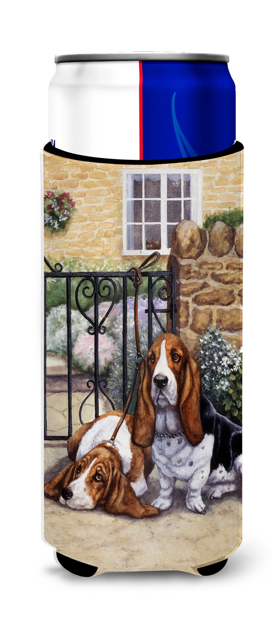 Basset Hound at the gate Ultra Beverage Insulators for slim cans BDBA0312MUK by Caroline's Treasures