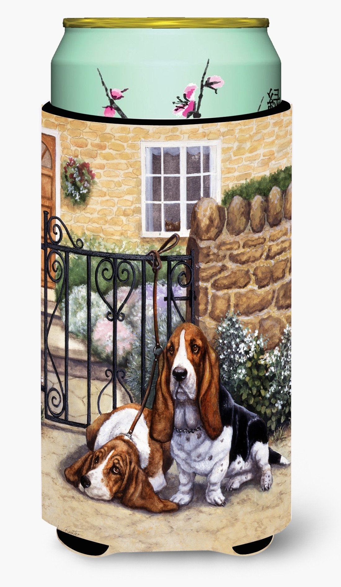Basset Hound at the gate Tall Boy Beverage Insulator Hugger BDBA0312TBC by Caroline's Treasures