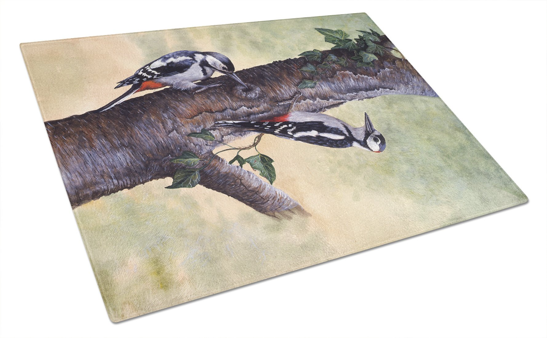 Buy this Woodpeckers by Daphne Baxter Glass Cutting Board Large BDBA0335LCB