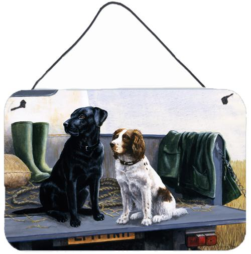 Buy this On The Tailgate Labrador and Springer Spaniel Wall or Door Hanging Prints