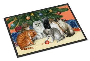 Buy this Cats under the Christmas Tree Indoor or Outdoor Mat 24x36 BDBA0345JMAT