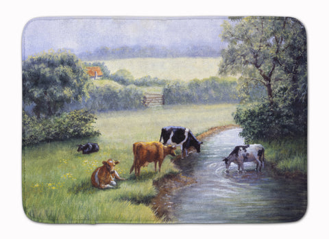 Buy this Cows Drinking at the Creek Bank Machine Washable Memory Foam Mat BDBA0350RUG