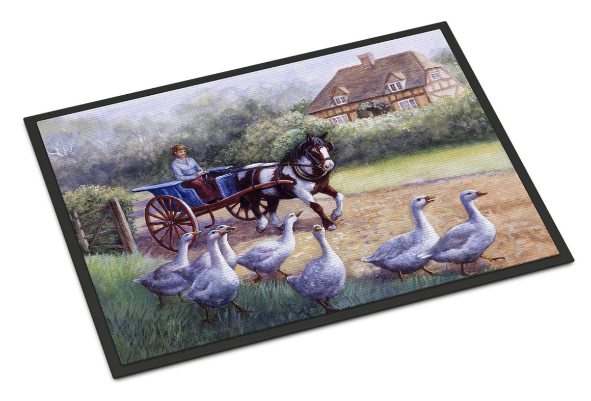 Buy this Geese Crossing before the Horse Indoor or Outdoor Mat 24x36 BDBA0351JMAT