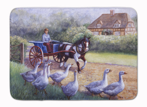 Buy this Geese Crossing before the Horse Machine Washable Memory Foam Mat BDBA0351RUG